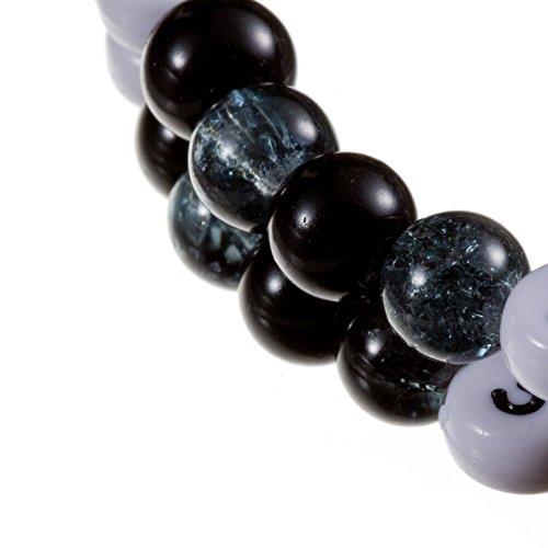 Stillarmband Black – Praktisch für stillende Mütter sowie ein ideales Geschenk zur Geburt! (Cracked-/Glaswachsperlen) - 2