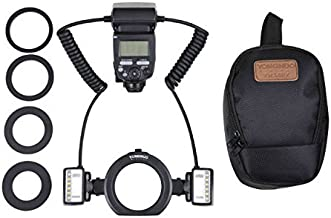 YONGNUO YN24EX TTL Macro Ring Flash LED Macro Flash Speedlite with 2pcs Flash Head and 4pcs Adapter Rings for Canon