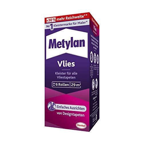 Metylan Vlies, Tapetenkleister für Vliestapeten mit glatter oder strukturierter Rückseite, einfach zu verwendender Tapetenkleister, Kleister mit hoher Ergiebigkeit, 1x180g