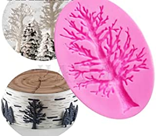 S.Han Silicone Tree Mold Fondant Mould Cake Decorating Tool Clay Resin Molds Baking bakeware