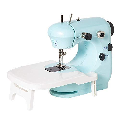 Máquina de Coser, Máquina de Coser Grueso Manual, eléctrico Mini máquina de Coser overlock, Multi-función pequeña máquina de Coser, Hogar Doble Línea de artesanía Diseño Máquina de Coser-Rosa ANJT