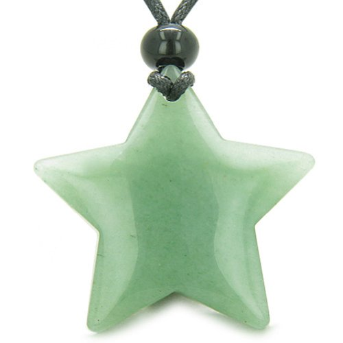 BestAmulets Amulet Magic Five Pointed Super Star Crystal Green Quartz...