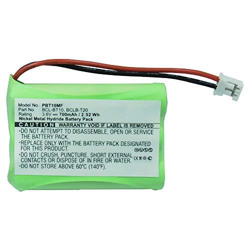 subtel® Batería Premium Compatible con Brother Intellifax 1960C, Intellifax 2580C, MFC-845CW, MFC-885CW - BCL-BT10, BCL-BT20, LT0197001 (700mAh) bateria Repuesto Pila