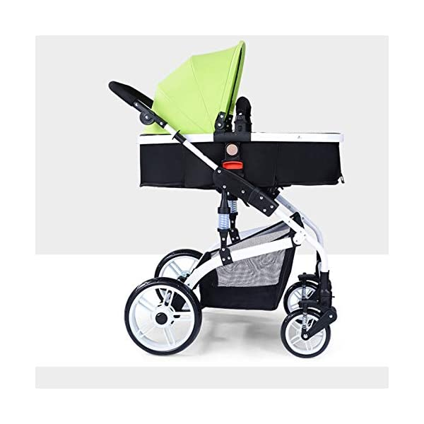 JXCC Baby Stroller Ultra Light Folding Child Shock Absorber Trolley Can Sit Half Lying 0-3 years old,25kg maximum -Safe And Stylish Blue JXCC 1.{All seasons} - Three-sided leaky net design, the awning can be adjusted at multiple angles, easy to cope with the sun 2.{75CM high landscape} - Baby can stay away from the surface heat, car exhaust, for the health of the baby 3.{3D stereo shock} - X-frame setting, evenly dispersing the upper weight, rear wheel two-wheel brake 2