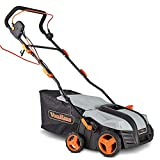 VonHaus 2 in 1 Lawn Scarifier - 1800W Electric Garden Rake with 5 Depth Settings & 55L Collection Box - for...