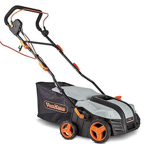 VonHaus 2 in 1 Lawn Scarifier - 1800W Electric Garden Rake with 5 Depth...