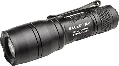 SureFire E1B-MV Backup Flashlights with Dual Output LED with MaxVision Beam Technology, Black