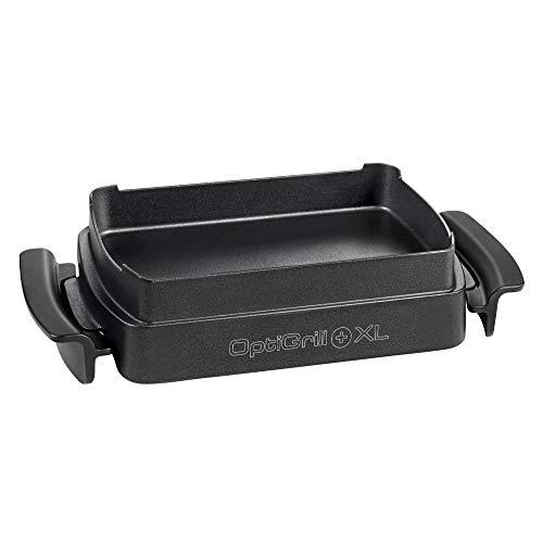 Tefal XA7268 OptiGrill Snacking & Baking - Bandeja de horno XL (apta solo para OptiGrill XL, antiadherente, capacidad de 2 litros, apta para lavavajillas), color negro