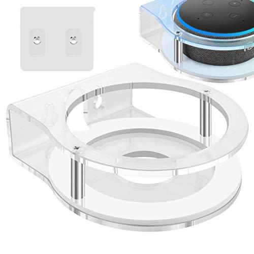 Geekria - Supporto da parete in acrilico per Echo Dot (terza generazione) con orologio LED e Alexa, supporto per altoparlante, supporto stabile per Amazon All-new Echo Dot Smart Speaker 2019