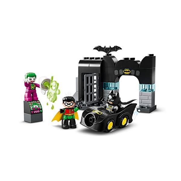 DUPLO Super Heroes DUPLO DC Comics BatmanBatcuevaconBatmóvilyJOKERCoche de Juguete para Niños Pequeñosa partir de2Años, multicolor (Lego ES 10919) 5
