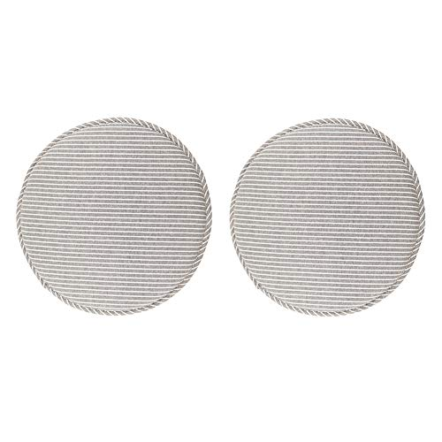 Round Non Slip Kitchen Dining Seat Cushions High Stool Chair Pads Bar Chair Cushion Set with Ties 13 Inch Pack of 2 Grey