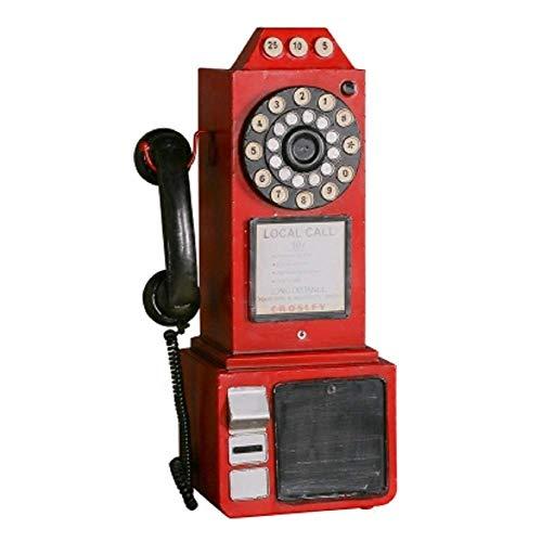 SD&EY Retro Vintage Modelo De Teléfono De Pared para Bar Tienda De Ropa Ventana Restaurante Casa Decoración Fotografía Props 50CM