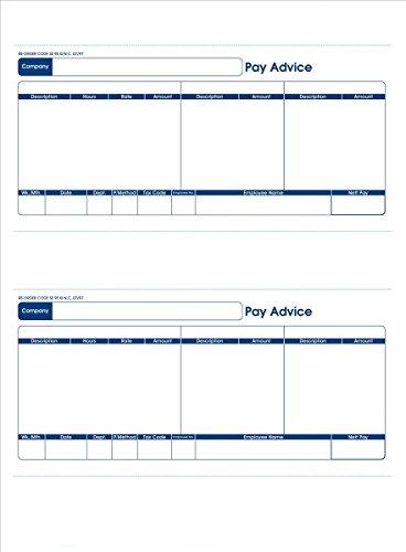 Communisis DUKSA011 Gehaltsabrechnung (für Laser oder Tintenstrahl, 210 x 102 mm, kompatibel zur Sage-Software, englisch) 500 Formulare / 1000 Gehaltsabrechnungen
