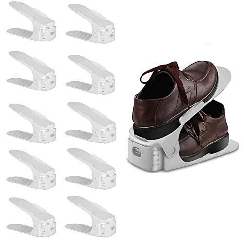 Toruiwa - Organizador de zapatos mágico, ahorro de espacio, 10 unidades