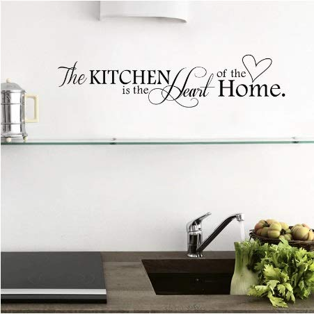 New Kitchen is Heart of The Home - Adhesivo decorativo para pared (PVC, 57 x 14 cm)