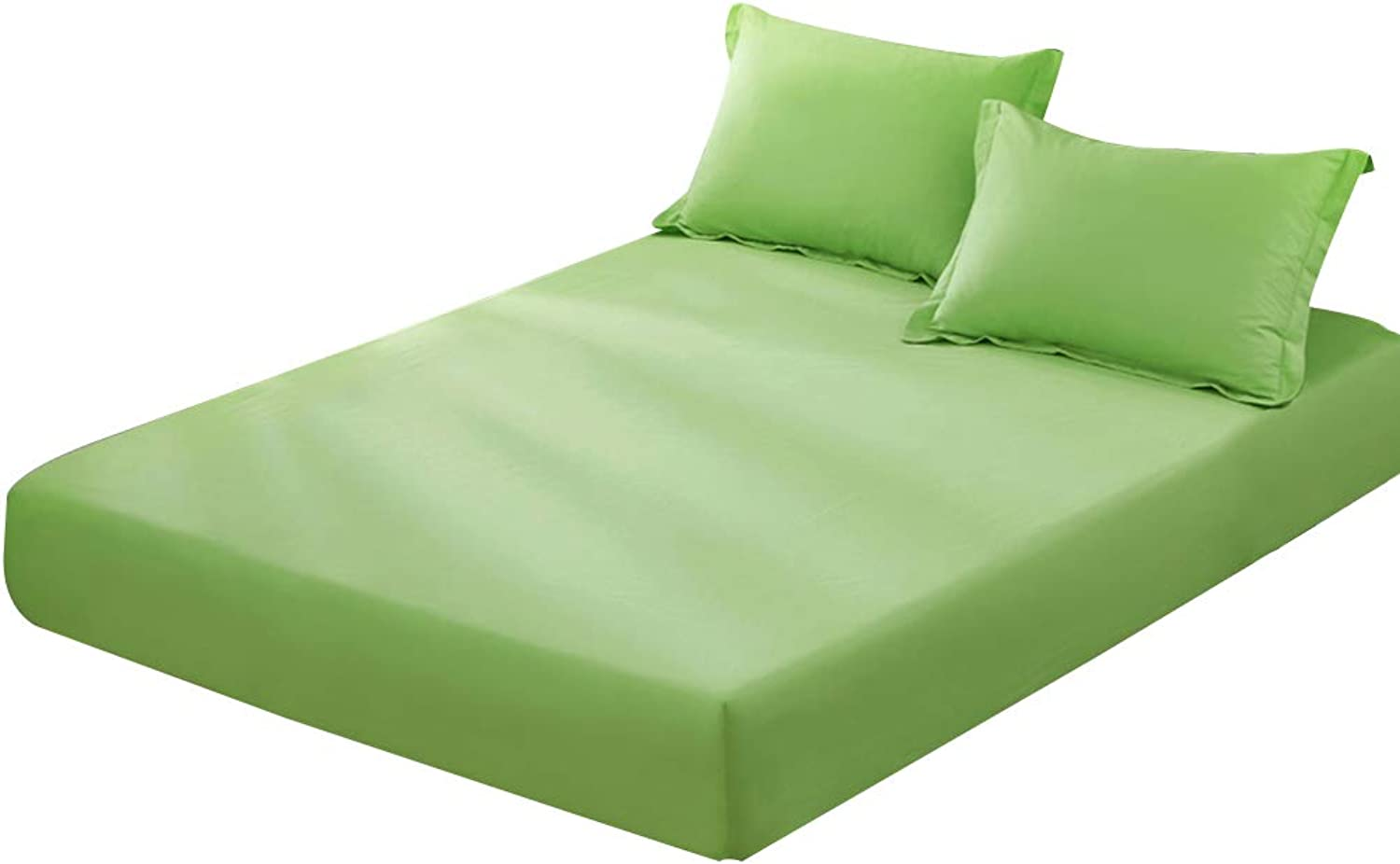 ZHAOHUI Mattress Predector Cotton Non-Slip Breathable Hygroscopic Environmental Predection Soft Skin-Friendly, 4 Packages, 5 colors, 2 Sizes (color   Green-2pcs, Size   Full)