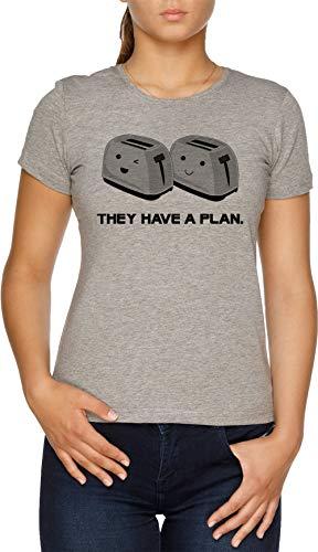 Vendax Toasters T-Shirt Donna Grigio