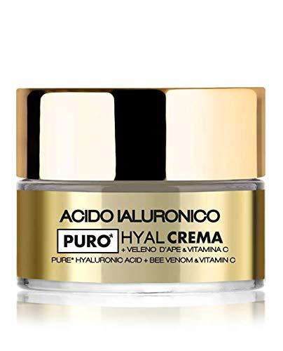 Crema viso HYAL con acido ialuronico puro a doppio peso molecolare, Veleno d Ape e Vitamina C, idratazione intensa e immediata a doppia profondità (1x50ml) - LR Wonder Company