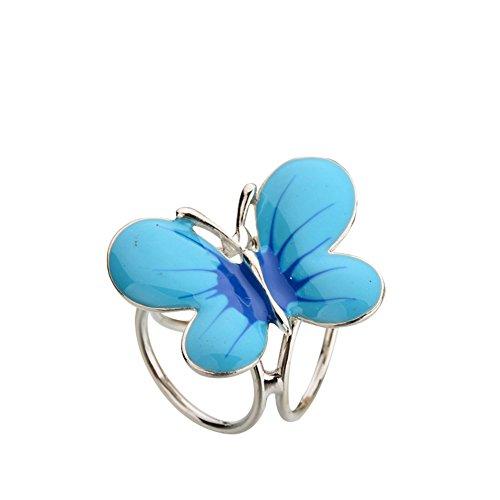 Kentop Bufanda Hebilla Anillo de Forma de Mariposa Bufanda Cuadrada Mantón Joyería Decorativa Regalo para Mujer