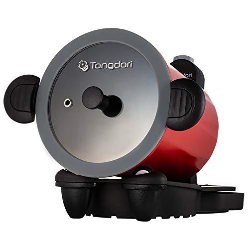 ウェルリッチ トンドリオーブン レシピブック付き TD-4085R 回る鍋 自動調理器 自動炒め器 鍋が自動で回転 手間いらず アウトドアでも大活躍 回転して余分な油を落とす ヘルシー すぐ使える単三電池付き 正規品 保証付