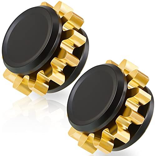 Zhanmai 2 Pieces Copper Gear Metal Spinner Toy, Mini Fidget Spinning Toy Solid Metal Brass Gear...