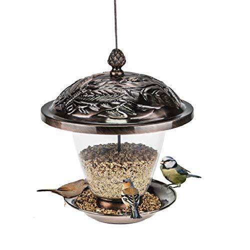 JXXDDQ Récipient pour Aliments Plein d'oiseaux Sauvages de Style européen de mangeoire d'oiseaux de Style européen pour Le Balcon de Maison accrochent l'animal familier