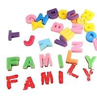 YZCX Kit di Pittura per Bambini, 56 Pezzi Set di Pennelli in Spugna, Pennelli Fiori, Spazzole Pittura, Grembiule Impermeabile, 26 Lettere, Borsa di Stoccaggio #4