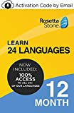 Rosetta Stone: Learn UNLIMITED Languages for 12 Months - Learn 24 Languages (Activation code by…