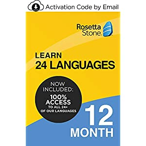 Rosetta Stone: Learn UNLIMITED Languages for 12 Months – Learn 24 Languages (Activation code by email)