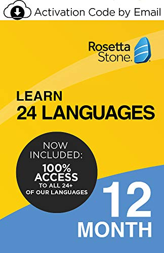 Rosetta Stone: Learn UNLIMITED Languages for 12 Months - Learn 24 Languages (Activation code by email)
