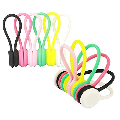 clips magnéticos para cable ZERHOK 12pcs para organizar las auriculares de cable...