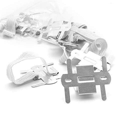 Silver/White Corsage Wrist Bands, Elastic Wristlets for Wedding Prom Flowers, Bulk Pack of 12, by Royal Imports