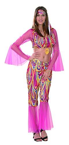 Rire Et Confetti - Fichip013 - Déguisement pour Adulte - Costume Hippie Groovy - Femme - Taille L