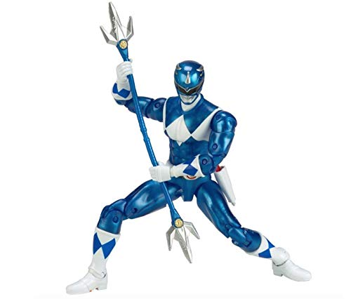 Mighty Morphin Power Rangers Legacy Collection Limited Edition 6.5 Inch Blue Ranger with Metallic Finish and Exclusive Weapons