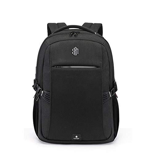 Arctic Hunter Rail - Mochila para ordenador portátil de negocios, color negro, impermeable, con USB, para tablet y portátil