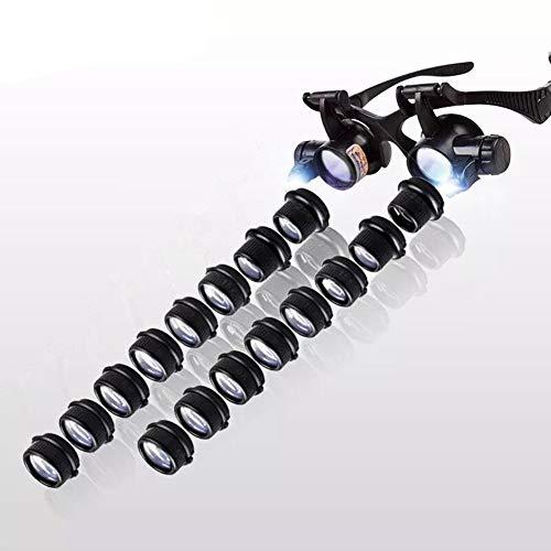 Gloednieuw, hoge kwaliteit, 2.5X, 4X, 6X, 8X, 10X, 15X, 20X, 25X, Verrekijker Bril high-Definition Verlichting Vergrootglas Reparatie Horloge Band, Seal, Identificatie Reparatie HD Draagbaar