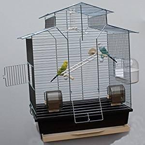 Heimtiercenter Vogelkäfig,Wellensittichkäfig,Exotenkäfig,60 cm Vogelkäfig Vogelbauer Wellensittich Kanarien Voliere Vogelhaus Käfig IZA 2 II braun