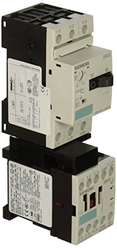 Siemens 3RA11 10-1DA15-1BB4 Combination Starter Complete Unit, Non-Reversing, DC Coil, S00 Size, No Contacts, 2.2-3.2 FLA Setting Range Inverse Time Delayed Overload Release
