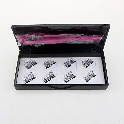 Bels Cils Magnetique Naturel Court, 3D RéUtilisablesnoir ImperméAble à L Eau MagnéTique Liquide Eyeliner pour Une Utilisation avec des Faux Cils MagnéTiques Faux Cils MagnéTiques Magnetic Eyeliner