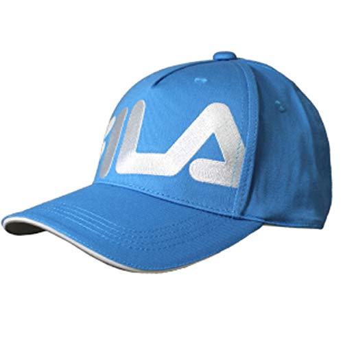 フィラ キャップ 正面のビッグなFILAのロゴがグリーンに映える 全5色 フリーサイズ FILA 787-956 ブルー