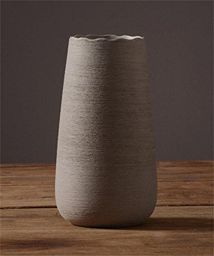 LIANGLIANGshipin Jarrón de Flor de cerámica Minimalista Moderno Planta Europea Creativa del sostenedor de la Planta Decoraciones caseras nórdicas Gran Regalo del día de Madre (Tamaño : 30 * 16.5cm)