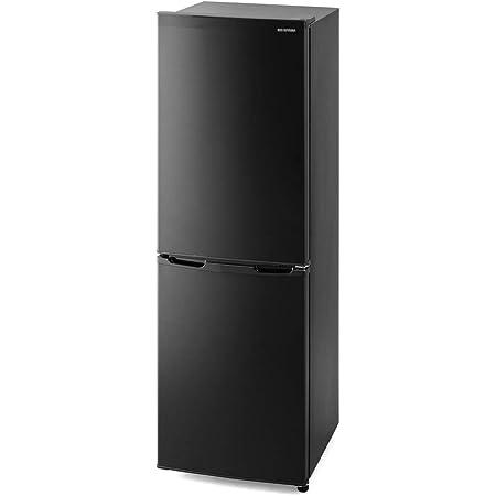 アイリスオーヤマ 冷蔵庫 162L 冷凍室62L スリム 幅47.4cm ブラック IRSE-16A-B