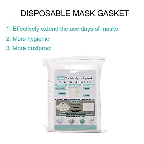 BESSKY 10/20/50 /100PC Filter Einwegfilter aus Vliesstoff Atemschutzfilter Universal Ersatz Mundschutzfilter Mask Filter (10PC)