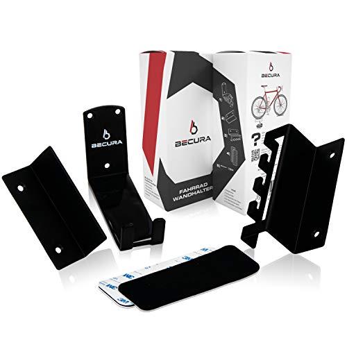 BECURA Soporte de pared para pedal de bicicleta, con cerradura, 2 ángulos de apoyo, suspensión...