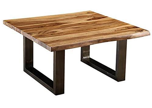 Table Basse carrée 90x90cm – Bois Massif de Palissandre laqué (Noble Unique) - Freeform #0316