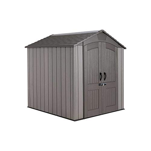 Lifetime Outdoor Storage Shed, Roof Brown, 7 ft x 7 ft