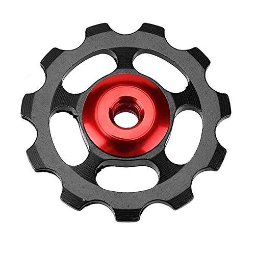 DER Rueda de guía de Bicicleta Guía de Bicicletas 11T Desviador Posterior de la Bicicleta MTB de la montaña de rodamiento de Rodillos de cerámica de Ruedas de aleación de Aluminio Bicicleta