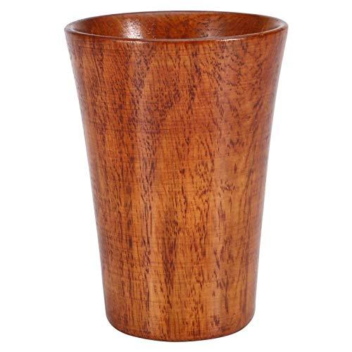 DERCLIVE Taza de té de madera natural hecha a mano, para beber, cerveza, café y leche.