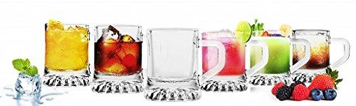 Sables & Reflets Juego de 6 vasos para chupitos, de vodka, de tequila... Idea de regalo original