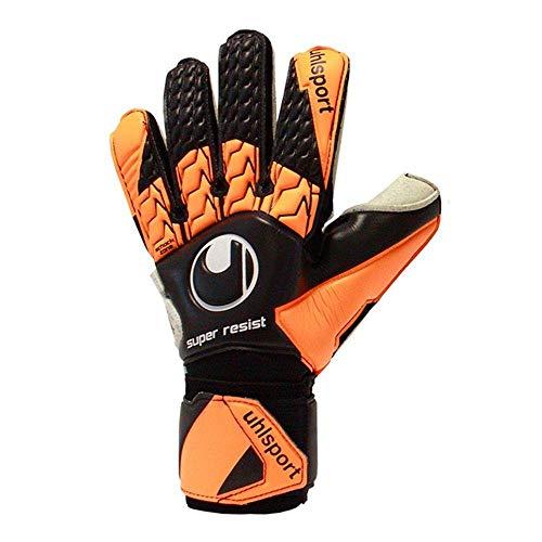 uhlsport SUPER Resist Torwarthandschuhe, schwarz/Fluo orange/Weiß, 9.5